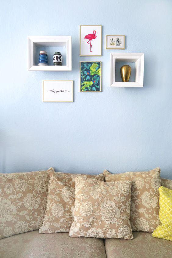 Galeriewand im Wohnzimmer