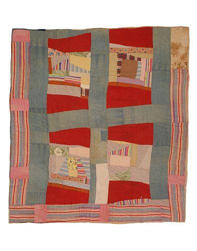 Susana Allen Hunter, Mosaic Medallion/Pig Pen Quilt, 1950-1955.