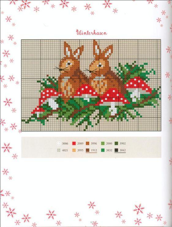 Gallery.ru / u0424u043eu0442u043e #1 - Advent im Winterwald - Los-ku-tik : cross stitch : Pinterest : Advent