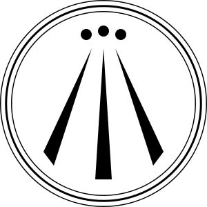 "Awen. Awen is a Welsh word for ""(poetic) inspiration"". In some forms of Neo-druidry the term is symbolized by an emblem showing three straight lines that spread apart as they move downward, drawn within a circle or a series of circles of varying thickness, often with a dot, or point, atop each line."