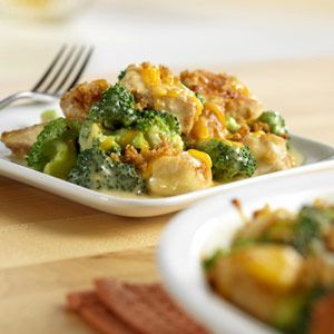 Chicken, broccoli and cheese casserole that's on the table in just 30 minutes.