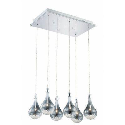 Elegant Lighting Edison 6 Light Cascade Pendant
