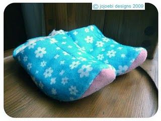 fleece-lined slippers tutorial