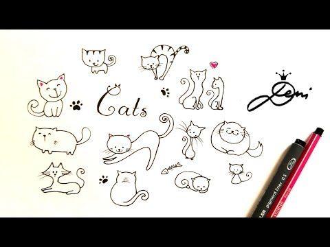 Ganz Einfach Katze Zeichnen Katze Malen Cats Doodle Risuvane Na