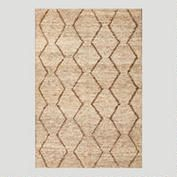 Ivory Zigzag Flat-Woven Hemp Rug