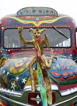 Ken Kesey's bus, helmed by the Merry Prankster