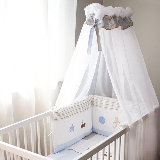Vu sur pinterest, ciel de lit bébé
