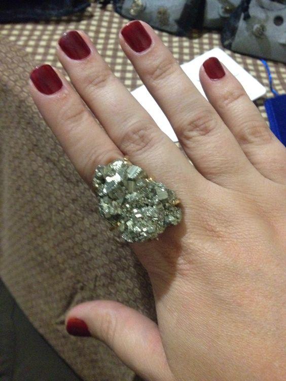 Anel de pirita, também conhecida como a pedra da prosperidade !
