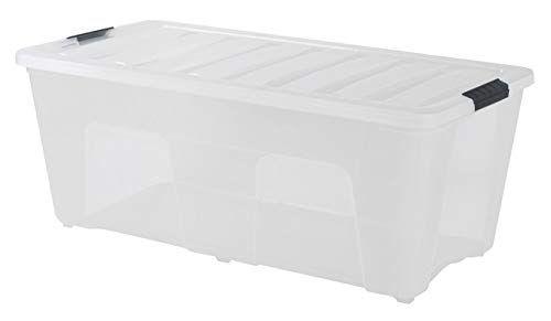 Iris Stack Pull Clear Storage Box 53 Quarts Iris Usa Https Www Amazon Com Dp B0 Plastic Storage Totes Plastic Storage Storage Containers With Drawers