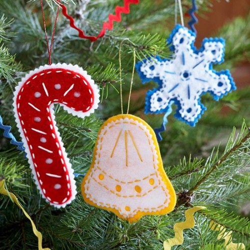 31 Cutest Christmas Felt Ornaments Felt Christmas Ornaments Diy