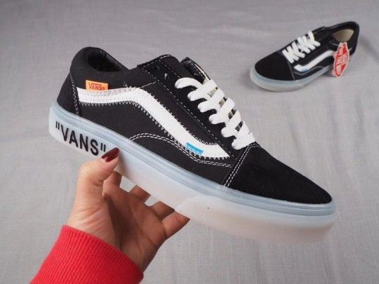 Custom Off White x Vans Old School Canvas Black