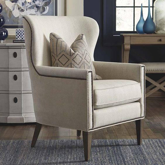 Victoria Accent Chair Herringbone Back To And Chairs