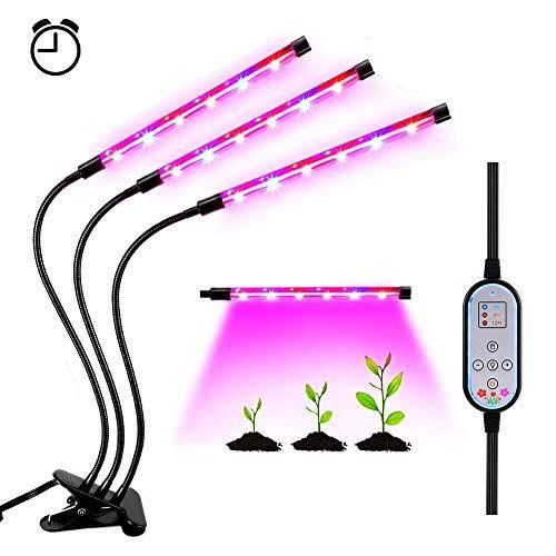 Youthink Lampe De Croissance Dimmable 3 Modes De Luminosite Reglable 36w Lampe De Plante Avec Minuterie Pour Lampe Pour Plante Lumiere Solaire Plante Interieur