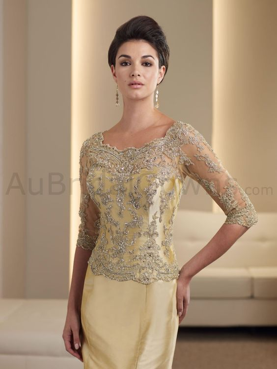 gold mother of the bride dresses  ... Corset Bodice Mermaid ...