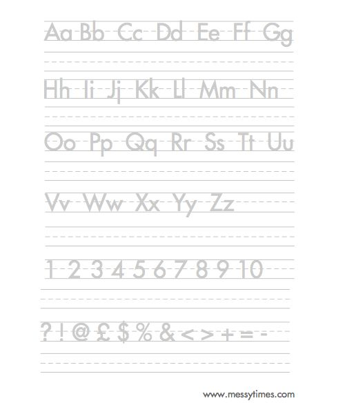 Worksheets Handwriting Alphabet Worksheets handwriting worksheets alphabet delibertad delibertad