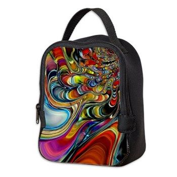 Abalone Shell Abstract Art Neoprene Lunch Bag