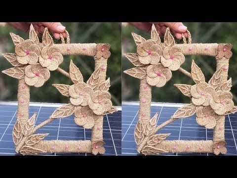 New Awesome Wall Hanging With Jute Rope Wall Decor Home Decor Showpiece Making Ideas Youtube Crafts Diy Burlap Handmade Crafts