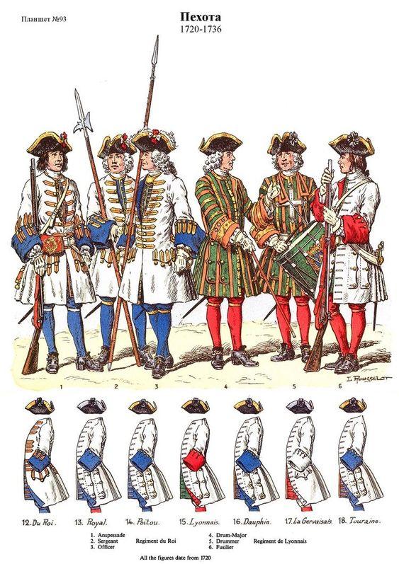 SOLDIERS- Rousselot: 1736- France: