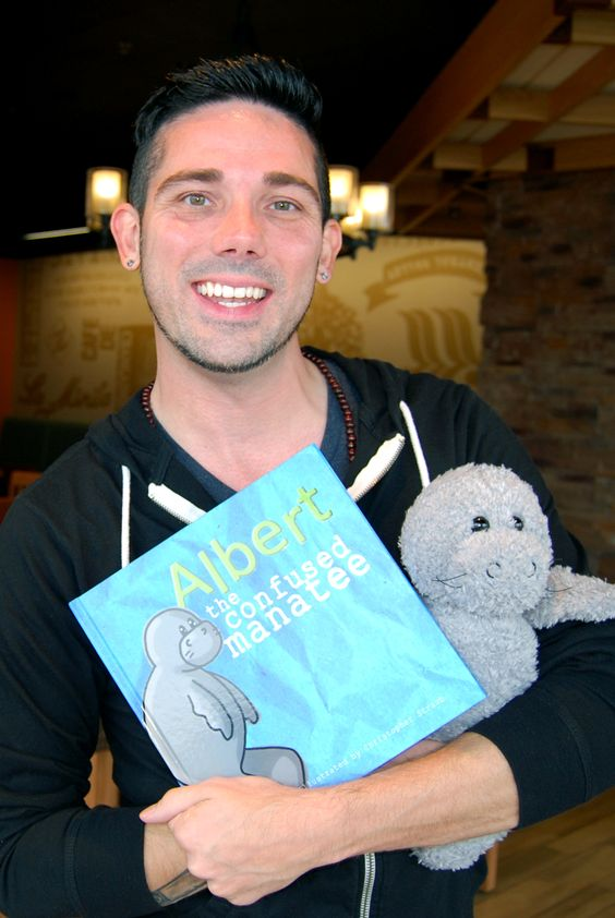 "MN author and designer Christopher Straub (Project Runway season 6) and his new book ""Albert the Confused Manatee""."