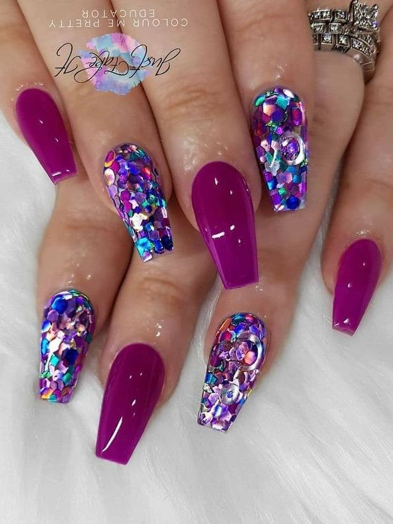 2020 Nail Trends 101 Pink Nail Art Ideas In 2020 Purple Nails Gold Nail Designs Nail Trends