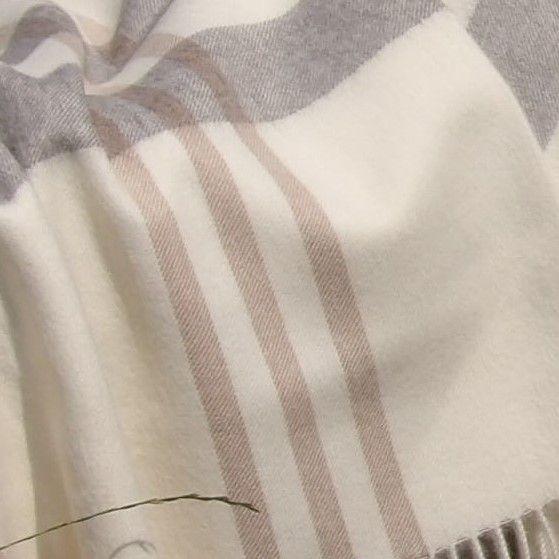 Baby Alpaka Decke Premium Weiss Gestreift Baby Alpaka Alpaka