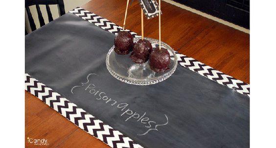 Tutorial: Chalkboard cloth table runner