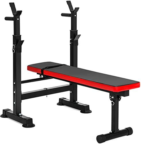 Best Seller Best Choice Products Adjustable Folding Fitness Barbell Rack Weight Bench Home Gym Strength Training Online Weight Benches Home Gym Exercises Adjustable Weight Bench