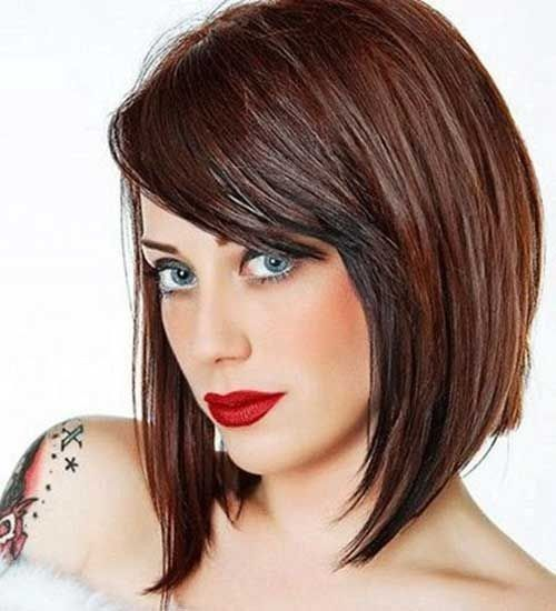 Image Result For Angled Bob With Side Bangs Hair Styles Thick Hair Styles Medium Length Hair Styles