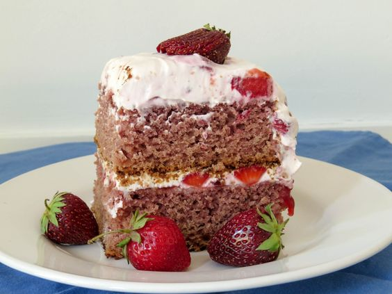 for a taste of summer, make this simple, Gluten-Free Fresh Strawberry Layer Cake, filled with fresh berries and a creamy frosting! No mixer required!