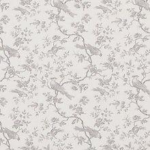 Buy John Lewis Botanica Bird Fabric, French Grey Online at johnlewis.com