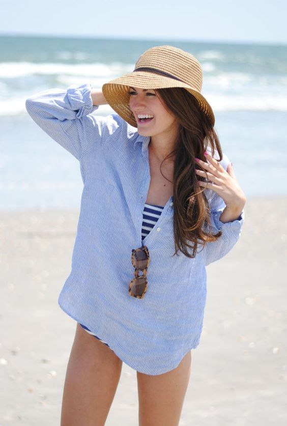 The perfect look for anyone headed to the beach this Memorial Day Weekend.