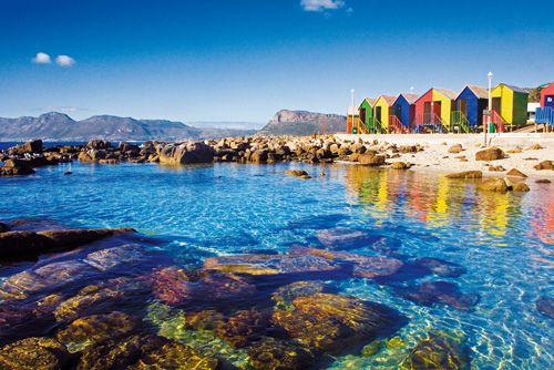 St james beach in cape town with its colorful changing for Cape town south africa travel