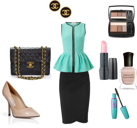 """""""Peplum & Chanel"""" by thestylebarn on Polyvore"""