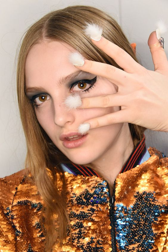 I repeat, NAILS. COVERED. IN. FUR.   This New Fur Nail Trend Is Stressing Me The F Out