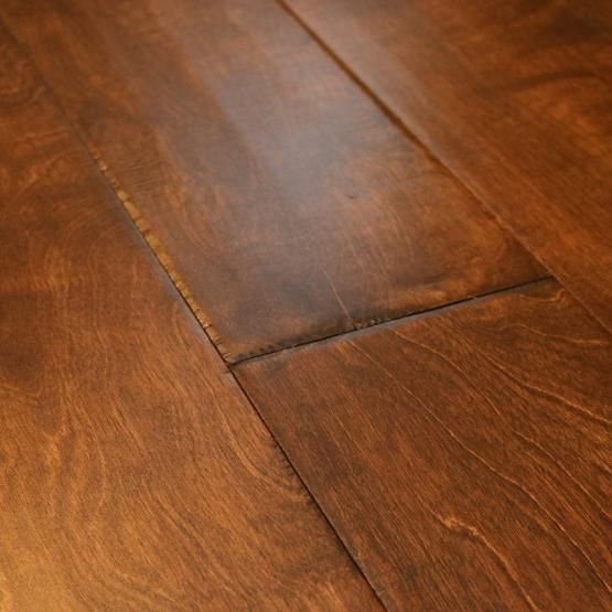 Birch Smoky Brown 3 8 X 6 1 2 Hand Scraped Engineered Hardwood Flooring Weshipfloors Hardwood Floors Wood Floors Wide Plank Flooring