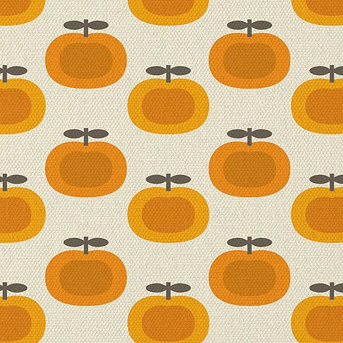 Retro Pumpkin Print - would make a cute cushion! It reminds me a bit of Orla Kiely. #cosyautumn