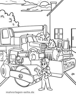 Malvorlage Baustelle Malvorlagen Malvorlagen Fur Kinder Kostenlose Ausmalbilder