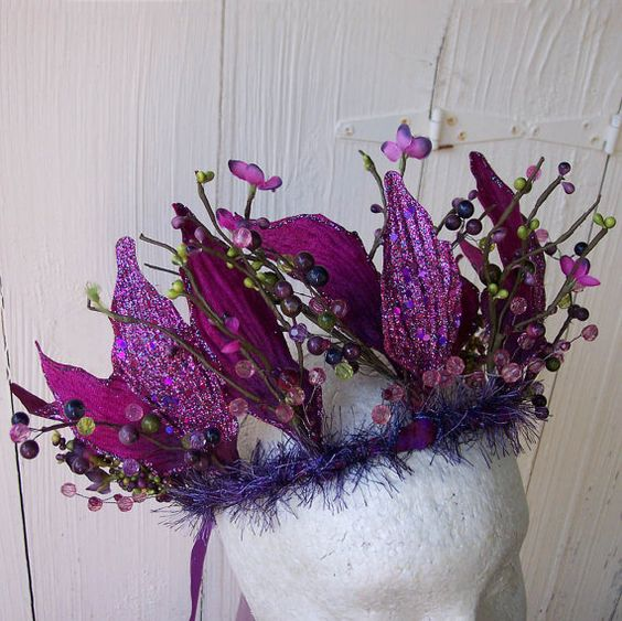 Purple Velvet Fairy Queen Crown by FriendlyFairies on Etsy. , via Etsy.