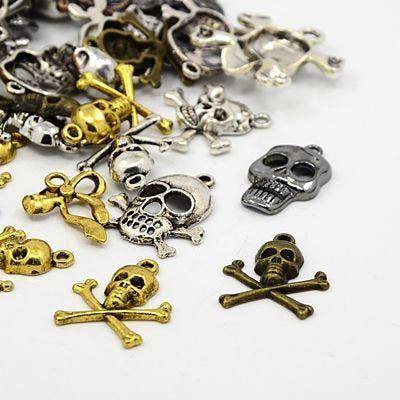 - Charming Beads LEAF - Pack 30 Grams Antique Silver Tibetan Random Shapes /& Sizes Charms HA07475