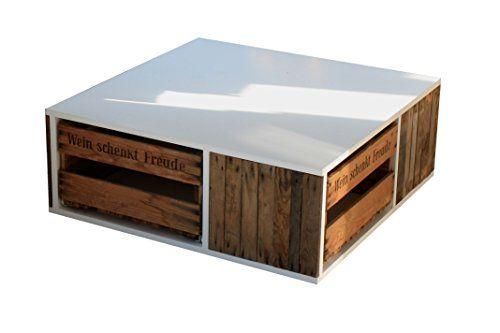 Pfalzvilla Upcycling Wohnzimmertisch Couchtisch Tisch Aus Alter Weinkiste Landhausstil Weiss Amazon De Dp B00MZFRYOI R