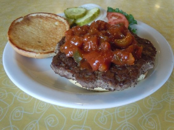 Spanish Bull: One Big Burger, loaded with our Secret Recipe Spanish Sauce n' all the fixings.