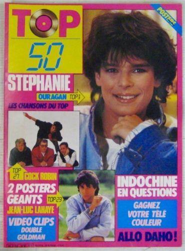 Revue-TOP-50-Avril-1986-Stephanie-de-Monaco-Indochine-Jean-luc-Lahaye