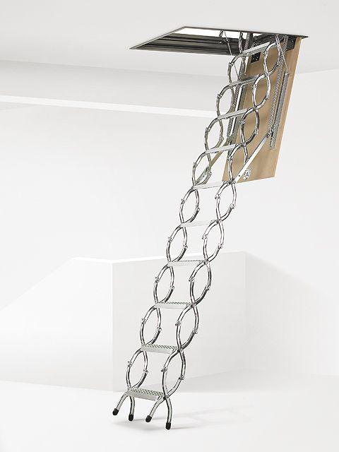 Escalera escamoteable de tijera, modelo ZX de Maydisa
