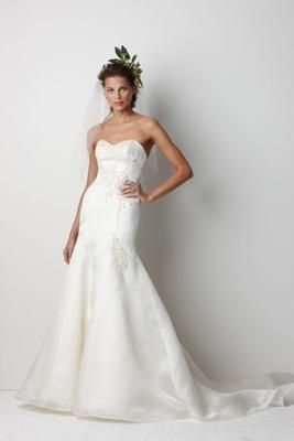 An Elegant Used Watters Bridal Gown With Embroidery Detailing For More Wedding Dresses Visit