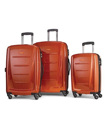 Loving This Orange Winfield Ii Three Piece Hardside Spinner Luggage Set On Zulily Zulilyfinds Samsonite Luggage Spinner Luggage Sets Luggage