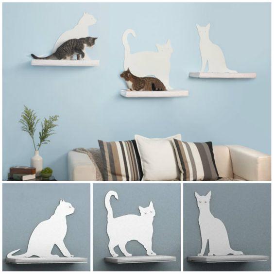 Estantes para gatos rascadores gatos pinterest - Estanterias para gatos ...