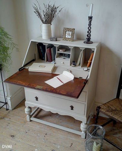 Stunning Painted Vintage Antique Shabby Chic Bureau Desk Drawers Farrow & Ball