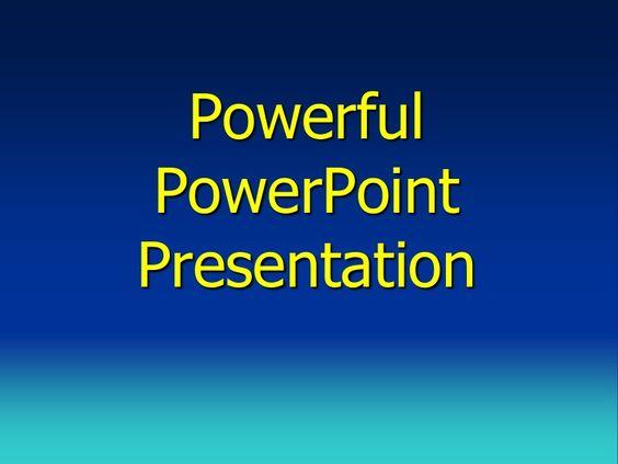 Powerful powerpoint presentation Presentation Skills Pinterest - presentation skills ppt