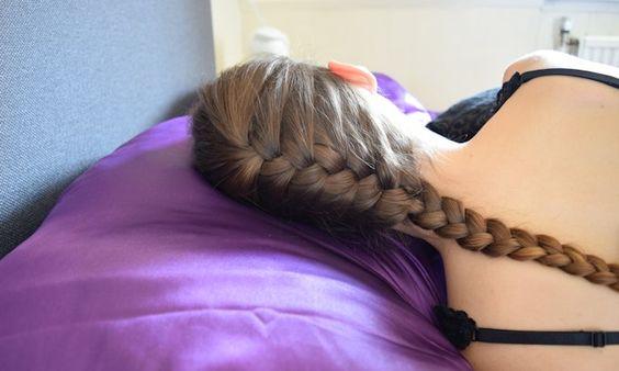 Gewone (Franse) Vlecht - Satijnen Kussensloop: Mooier Haar terwijl je Slaapt! • Heb je HAAR wéér!