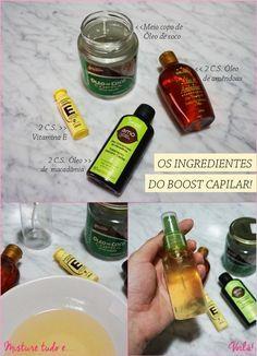 Fabrique seu próprio óleo capilar com estes passos simples. | você hidrata, estimula o crescimento capilar, dá brilho, limpa e evite queda nessa misturinha.